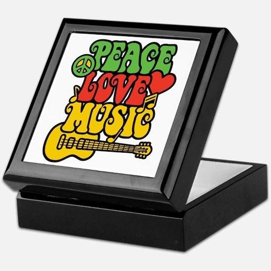Peace-Love-Music Keepsake Box