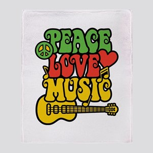 Peace-Love-Music Throw Blanket