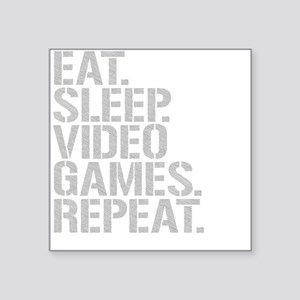 Eat Sleep Video Games Repeat Sticker
