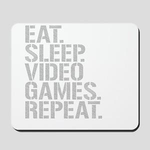 Eat Sleep Video Games Repeat Mousepad