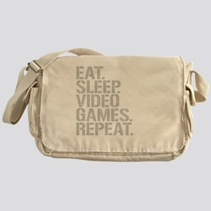 Eat Sleep Video Games Repeat Messenger Bag