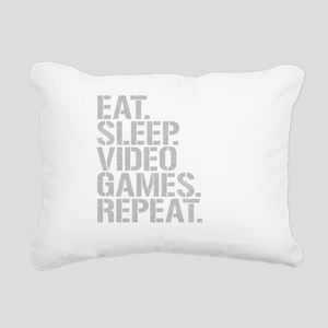 Eat Sleep Video Games Repeat Rectangular Canvas Pi