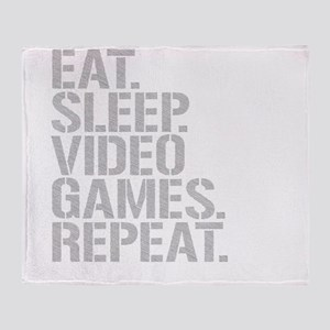 Eat Sleep Video Games Repeat Throw Blanket