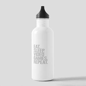 Eat Sleep Video Games Repeat Water Bottle