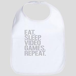 Eat Sleep Video Games Repeat Bib