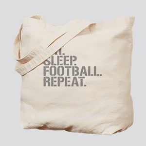 Eat Sleep Football Repeat Tote Bag