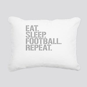 Eat Sleep Football Repeat Rectangular Canvas Pillo