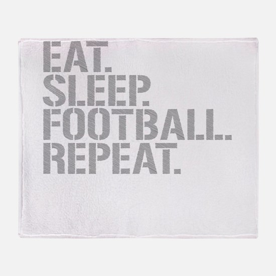 Eat Sleep Football Repeat Throw Blanket