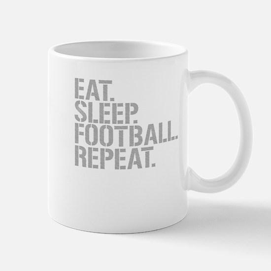 Eat Sleep Football Repeat Mugs