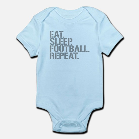Eat Sleep Football Repeat Body Suit