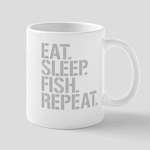 Eat Sleep Fish Repeat Mugs