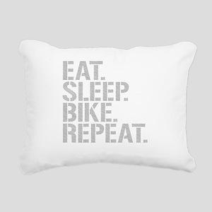 Eat Sleep Bike Repeat Rectangular Canvas Pillow