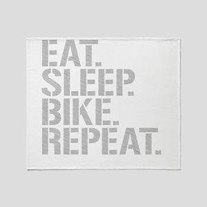 Eat Sleep Bike Repeat Throw Blanket
