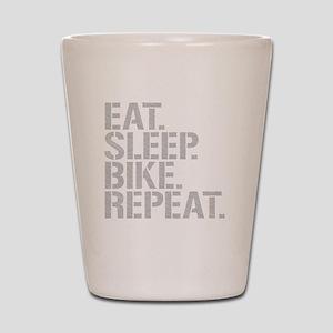 Eat Sleep Bike Repeat Shot Glass