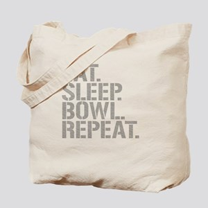 Eat Sleep Bowl Repeat Tote Bag