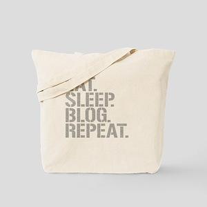 Eat Sleep Blog Repeat Tote Bag