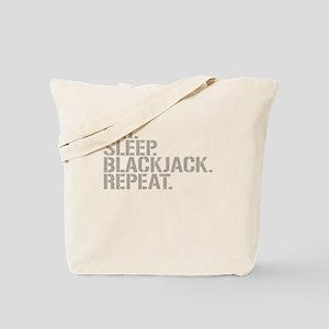 Eat Sleep Blackjack Repeat Tote Bag