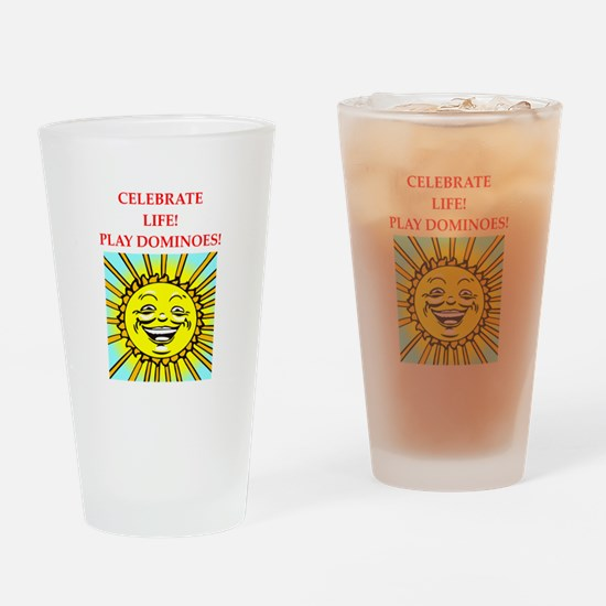dominoes Drinking Glass