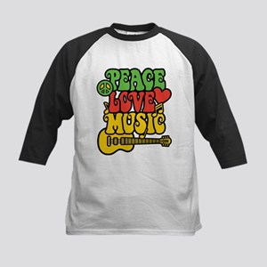 Peace-Love-Music Baseball Jersey
