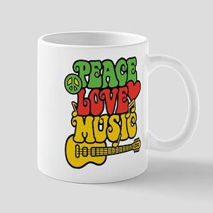 Peace-Love-Music Mugs