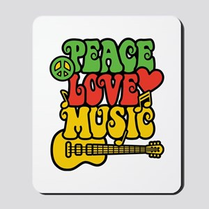Peace-Love-Music Mousepad