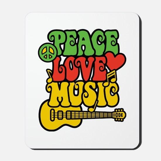 Peace-Love-Music Mousepad