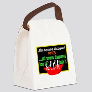 Play With Fire-Candace Bushnell Canvas Lunch Bag