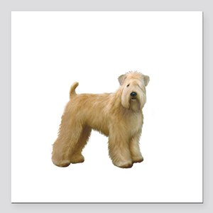 "Wheaten T (stand) Square Car Magnet 3"" x 3"""