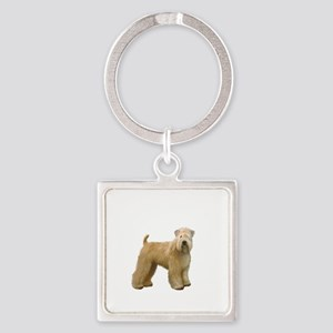 Wheaten T (stand) Square Keychain