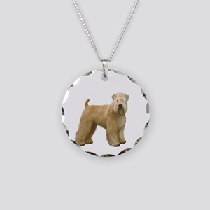 Wheaten T (stand) Necklace Circle Charm