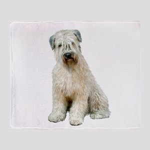 Wheaten Terrier (8) - sit Throw Blanket