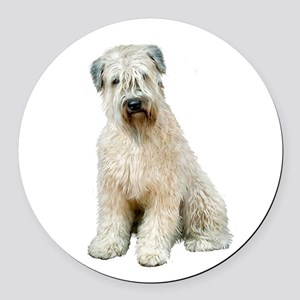 Wheaten (sit) Round Car Magnet