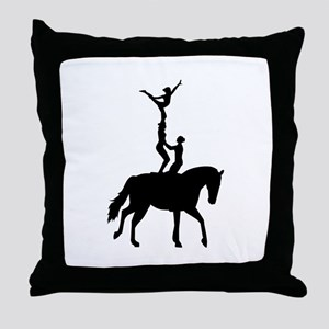Vaulting dressage Throw Pillow