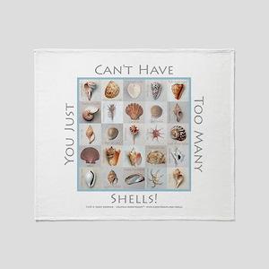 Too Many Shells! Throw Blanket