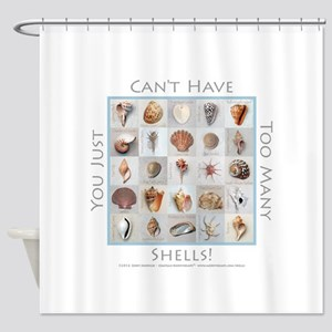 Too Many Shells Shower Curtain