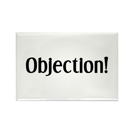 objection Rectangle Magnet