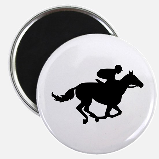 "Horse race racing 2.25"" Magnet (10 pack)"