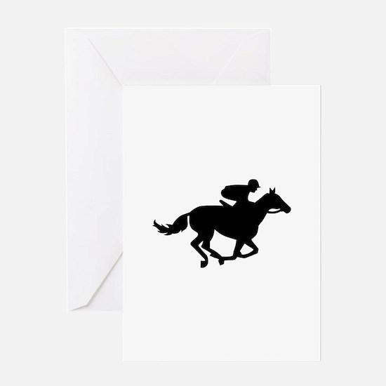 Horse race racing Greeting Card