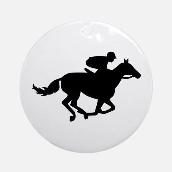 Horse race racing Ornament (Round)