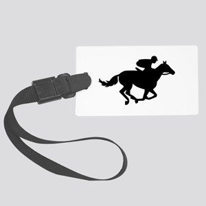 Horse race racing Large Luggage Tag