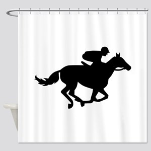 Horse race racing Shower Curtain