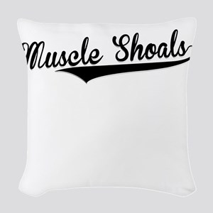 Muscle Shoals, Retro, Woven Throw Pillow