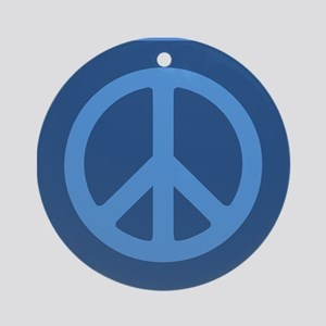 Simple Trendy Peace Sign Ornament (Round)