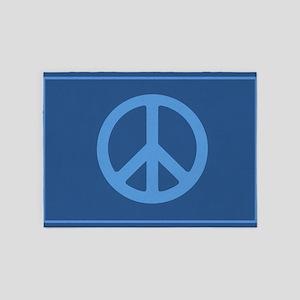 Simple Trendy Peace Sign 5'x7'Area Rug