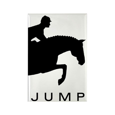 """JUMP"" Hunter Jumper Rectangle Magnet (10 pack)"