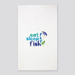 Eat Sleep Fly Fish 3'x5' Area Rug