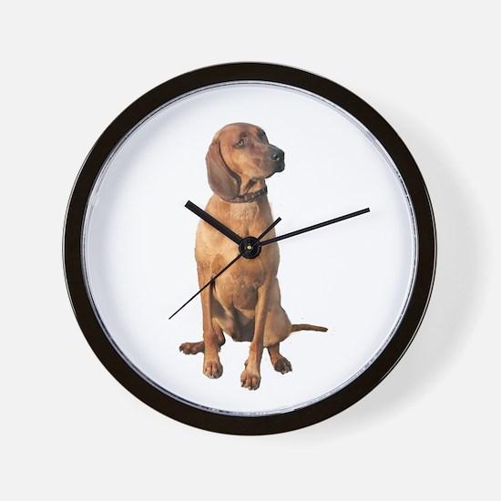 Red Bone Coon Hound Wall Clock