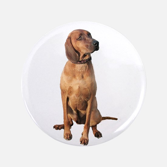 "Red Bone Coon Hound 3.5"" Button"