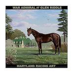 War Admiral At Glen Riddle Tile Coaster