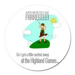 Highland Games Round Car Magnet